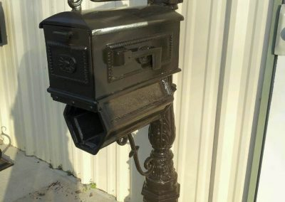 Cast Aluminum Mailbox Post w_Holder