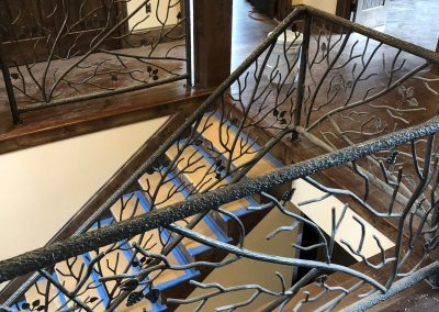 Custom Ornamental Iron Railing